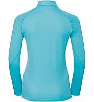 Odlo Sliq Midlayer - Laufpullover mit Reißverschluss - Damen, Light Blue