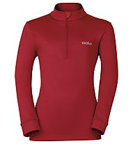 Odlo Snowbird KIDS Midlayer 1/2 zip - Fleecepullover - Kinder, Red