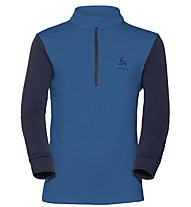 Odlo Snowbird KIDS Midlayer 1/2 zip - Fleecepullover - Kinder, Light Blue/Blue