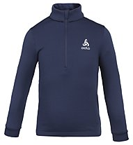 Odlo Snowbird KIDS Midlayer 1/2 zip - Fleecepullover - Kinder, Dark Blue