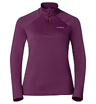 Odlo Snowbird Midlayer 1/2 zip W's Felpa in pile donna, Magenta Purple