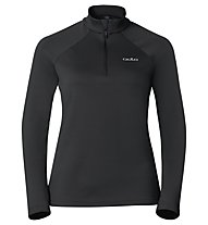 Odlo Snowbird Midlayer 1/2 zip W's Felpa in pile donna, Black