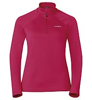 Odlo Snowbird Midlayer 1/2 zip W's Felpa in pile donna, Red