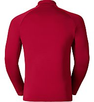 Odlo Snowbird Midlayer 1/2 zip - maglia in pile - uomo, Red