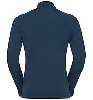 Odlo Snowbird Midlayer 1/2 zip - Fleecepullover - Herren, Dark Blue