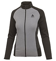 Odlo Snowbird Midlayer full zip - Fleecejacke - Damen, Grey/Black