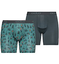 Odlo Active Summer Splash Boxer (2 pack) - Boxershorts - Herren, Green