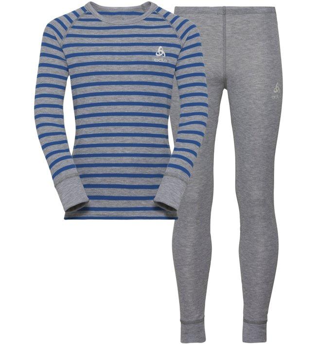 Odlo Warm Kids Shirt Pants Long Set - Unterwäsche Komplet - Kinder, Grey/Blue