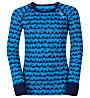 Odlo Set intimo bambino Warm Kids Shirt l/s Pants long Set, Blue Jewel/Peacoat