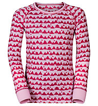 Odlo Warm Kids Shirt l/s Pants long Set Unterwäsche Komplet für Kinder, Sangria/Winterrose