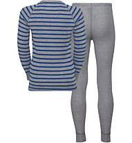 Odlo Warm Kids Shirt Pants Long Set - Unterwäsche Komplet - Kinder, Grey/Blue