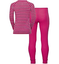 Odlo Warm - set intimo - bambino, Pink/Grey