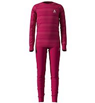 Odlo Warm Kids Shirt Pants Long Set - Unterwäsche Komplet - Kinder, Dark Pink