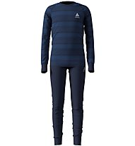 Odlo Warm - set intimo - bambino, Dark Blue