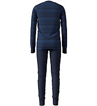Odlo Warm Kids Shirt Pants Long Set - Unterwäsche Komplet - Kinder, Dark Blue
