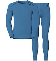 Odlo Set Warm - completo intimo - uomo, Light Blue