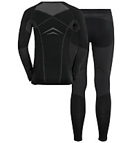 Odlo Winter Specials Performance Evolution Warm - set intimo - uomo, Black/Grey