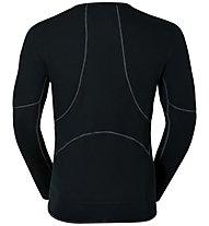 Odlo X-Warm Crew - maglietta tecnica sci - uomo, Black