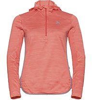 Odlo Steam Hoody Midlayer - Fleecepullover - Damen, Orange