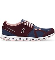 On Cloud W - Natural-Running-Laufschuhe - Damen, Dark Red/Blue