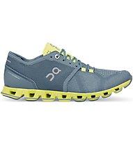 On Cloud X W - scarpe running neutre - donna, Grey/Yellow
