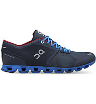 On Cloud X - Stabilitäts-Laufschuh - Herren, Blue/Red