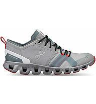 On Cloud X Shift - Sneaker - Damen, Grey/Green/Red
