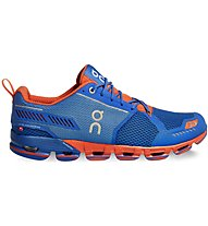 On Cloudflyer - scarpe running stabili - uomo, Light Blue/Orange