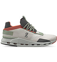 On Cloudnova - Sneaker - Herren, White/Orange/Grey
