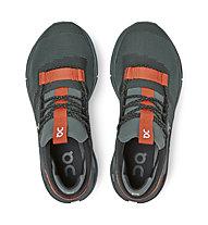 On Cloudnova - sneakers - donna, Dark Green/Orange
