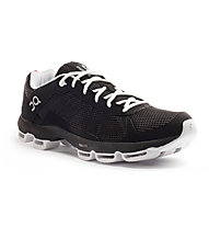 On Cloudster - scarpe running - uomo, Black/White