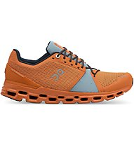 On Cloudstratus - scarpe running neutre - uomo, Orange/Light Blue