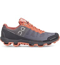 On Cloudventure W - scarpe trail running - donna, Grey/Red