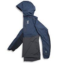 On Lightweight Weather - giacca running - uomo, Blue/Dark Grey