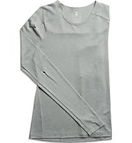 On Long-T W - maglia running a maniche lunghe - donna, Grey