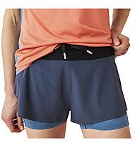 On Running Shorts - pantaloncini running - donna, Blue/Light Blue