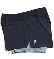 On Running Shorts - pantaloncini running - donna, Dark Blue/Light Blue