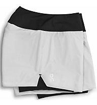 On Running - pantaloni corti running - donna, White/Black