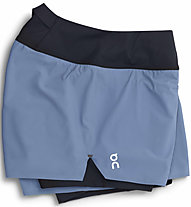 On Running - pantaloni corti running - donna, Light Blue/Black