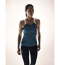 ON Tank-T - top running donna, Storm/White