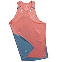 On Tank-T - top running - donna, Light Red/Light Blue