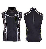 One Way Gilet da fondo Carbon 4 Softshell Vest, Black/Green