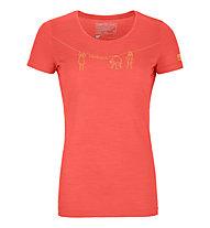 Ortovox 120 Merino Cool Tec - t-shirt - donna, Light Red