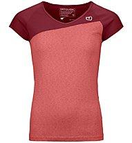 Ortovox 120 Tec - T-shirt - donna, Dark Red/Red