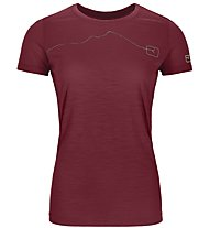 Ortovox 120 Tec Mountain - T-shirt - donna, Dark Red