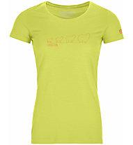 Ortovox 150 Cool Evolution Ts - maglietta tecnica - donna, Green/Red