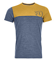 Ortovox 150 Merino Cool Logo - T-Shirt - uomo, Blue/Yellow