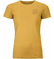 Ortovox 150 Cool Radio Ts - T-shirt - donna, Yellow