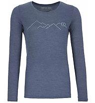 Ortovox 185 Merino Mountain LS - Funktionsshirt - Damen, night blue blend