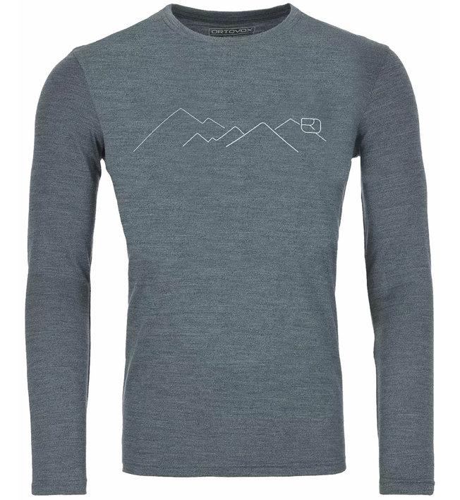 Ortovox 185 Merino Mountain LS - maglietta tecnica - uomo, green forest blend